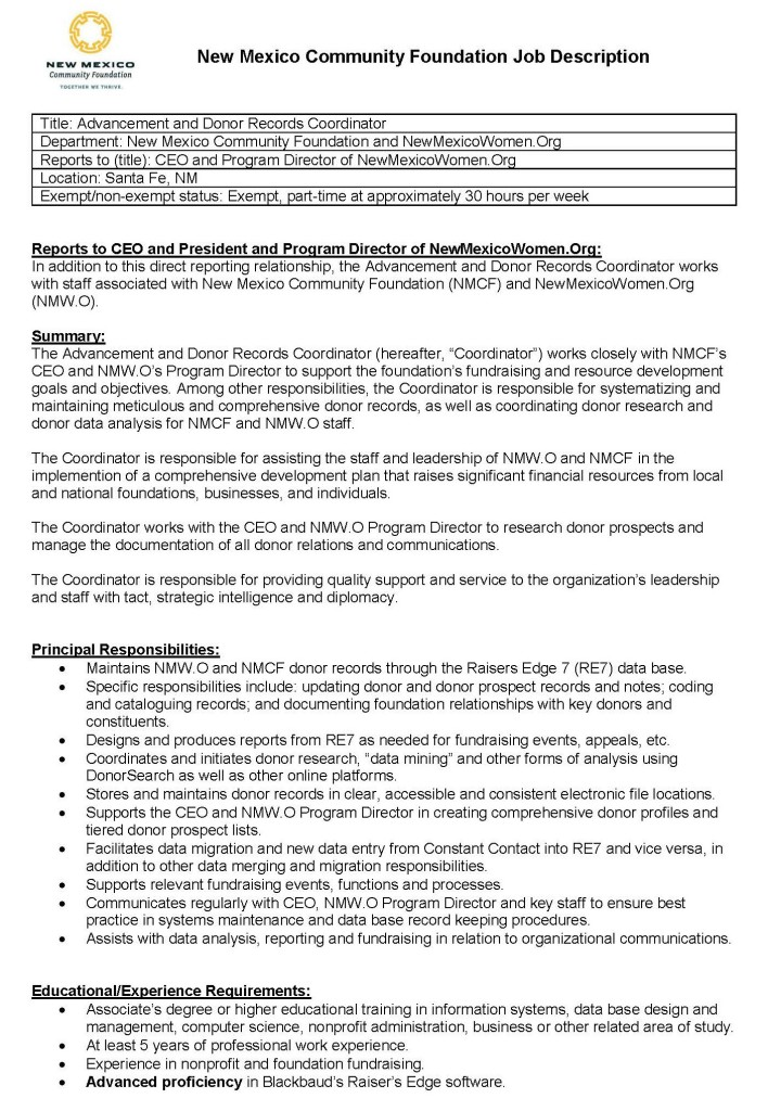 New Mexico Community Foundation and NewMexicoWomen.Org are Hiring ...